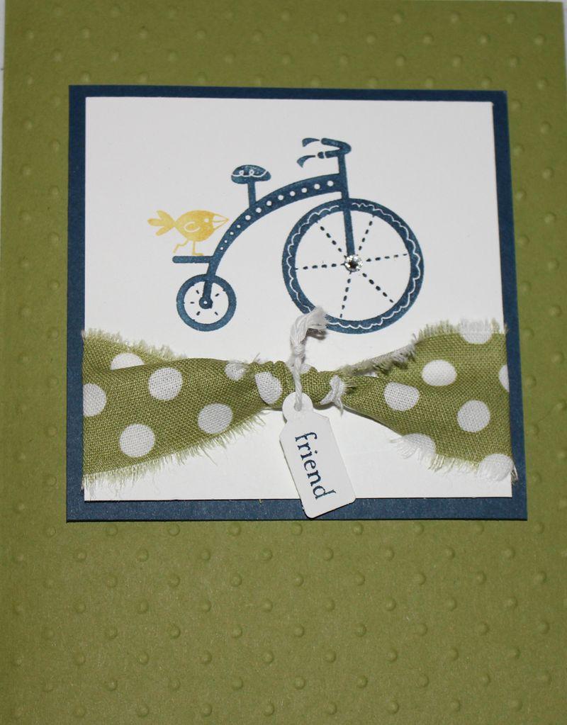 Bike with fabric