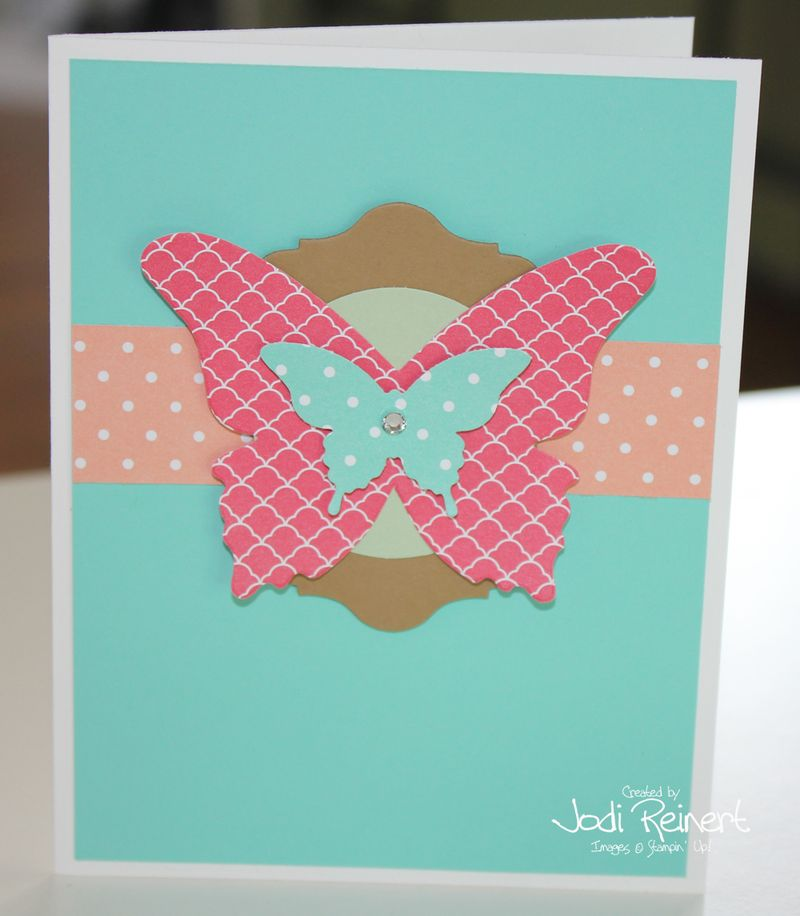 In Color butterfly card