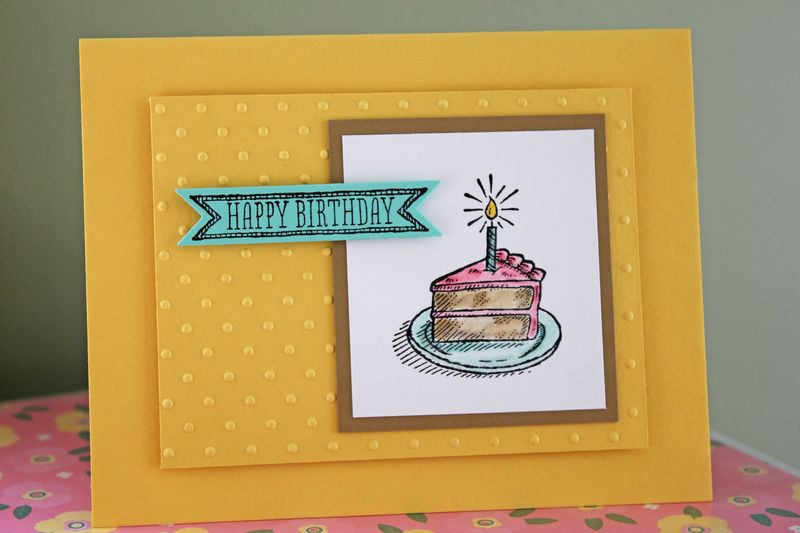 Sketched Birthday daffodil