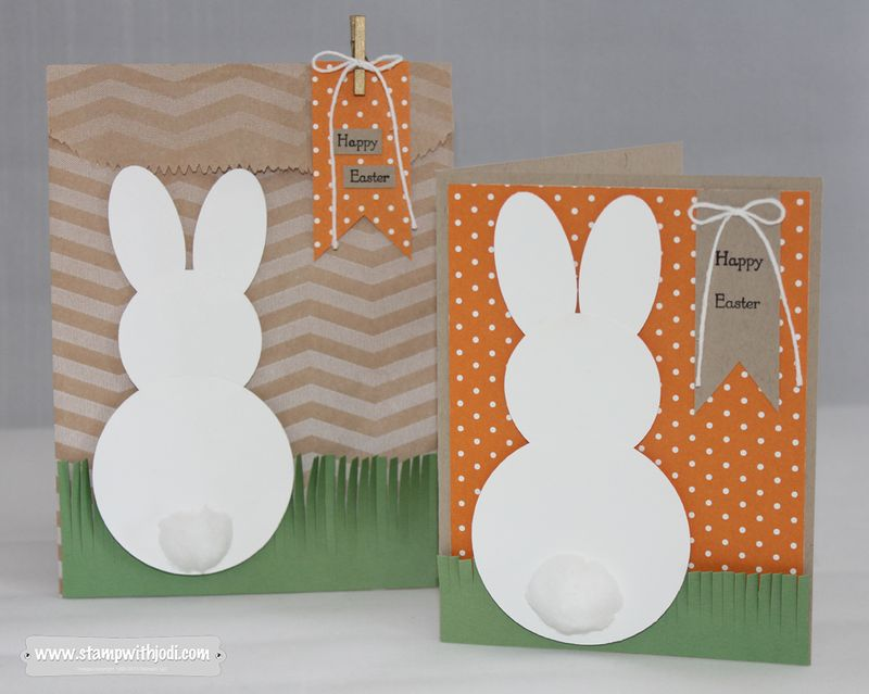 Easter Bunny card and bag