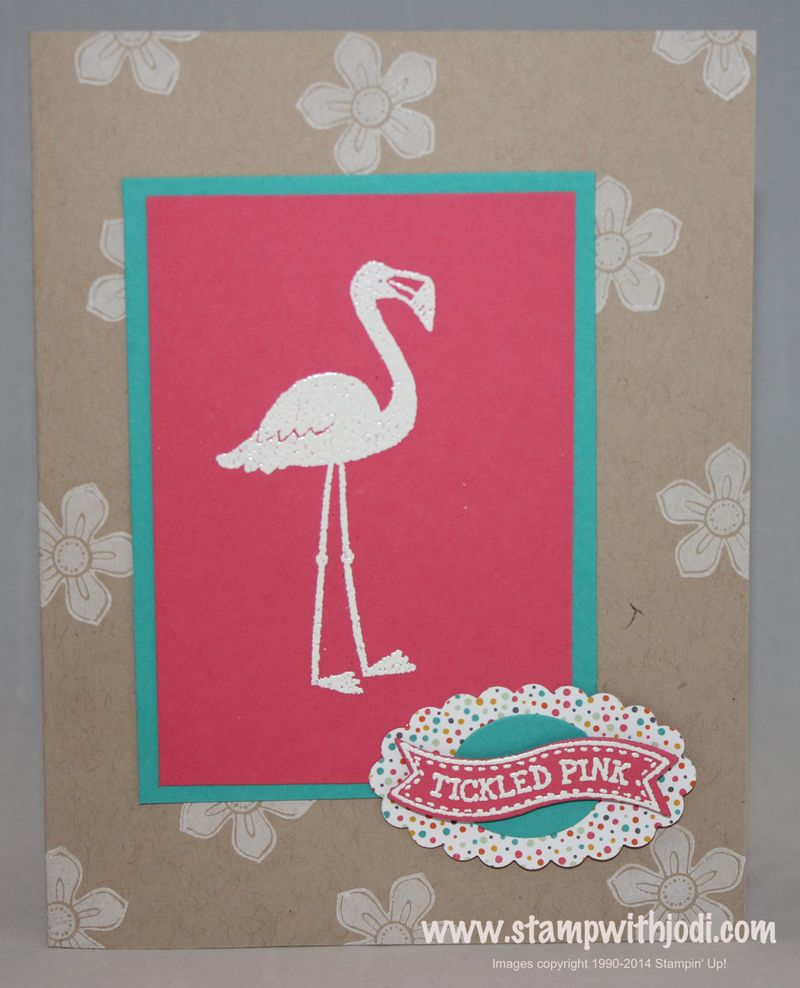 Flamingo embossed