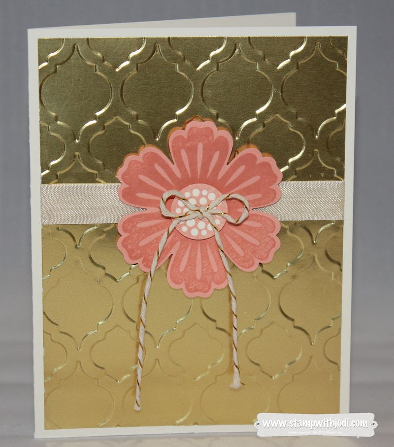 Gold Foil with flower