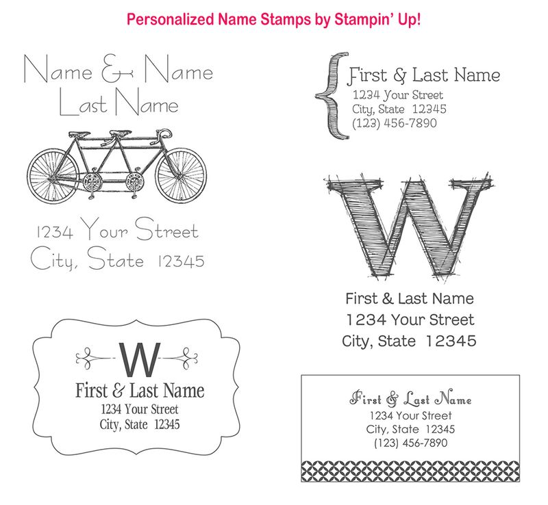 Personalized name stamps