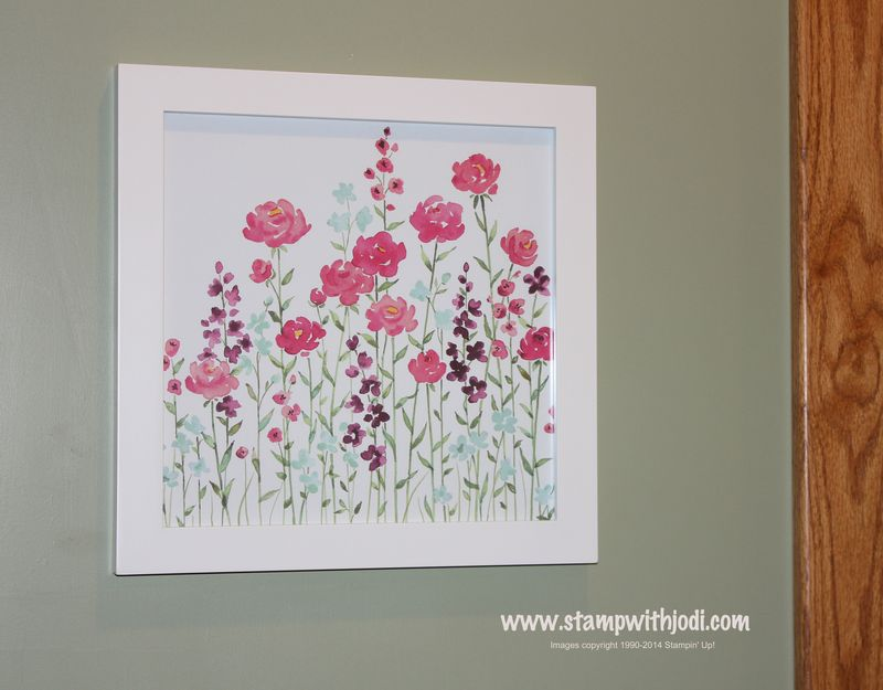 Painted blooms framed