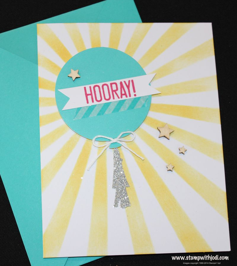 Hooray It's Your Day mask card