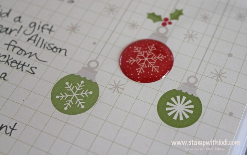 Christmas epoxy sticker