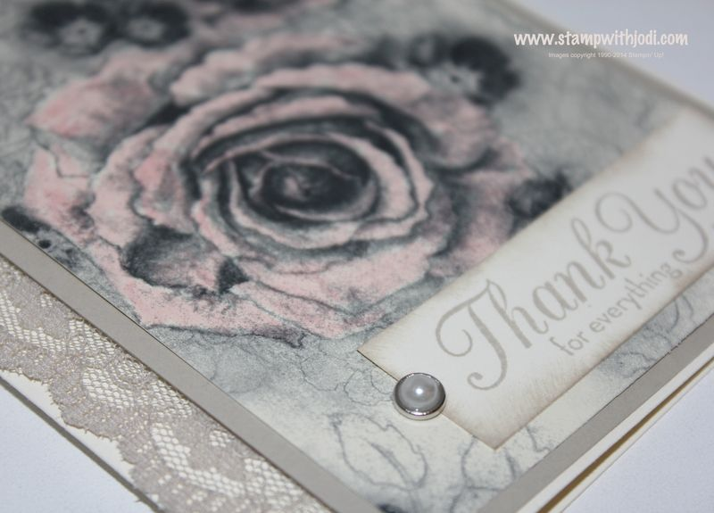 Timeless Elegance card up close