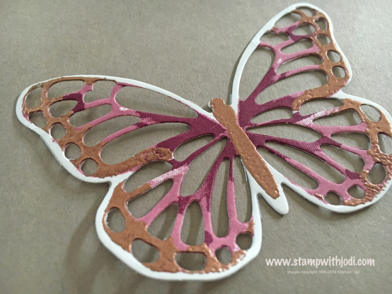 Copper butterfly cut out