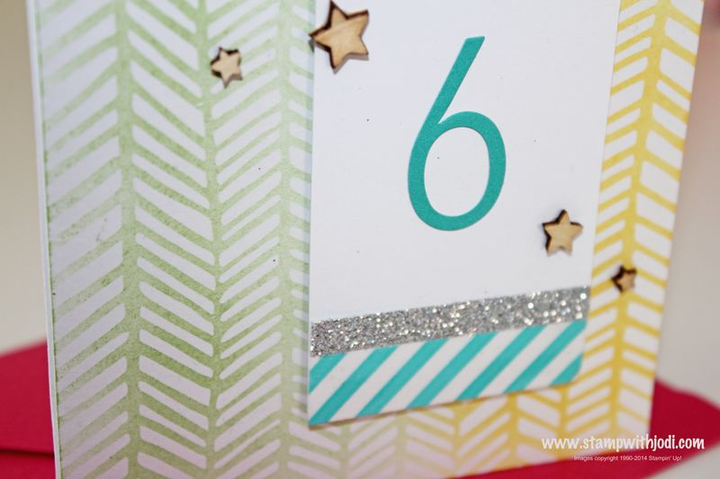 Hooray It's Your Day gift card up close