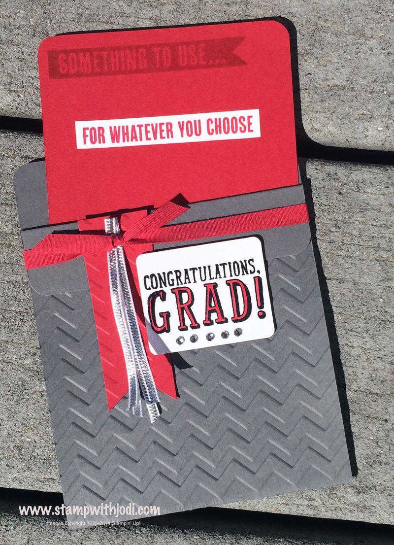 Grad pocket card inside