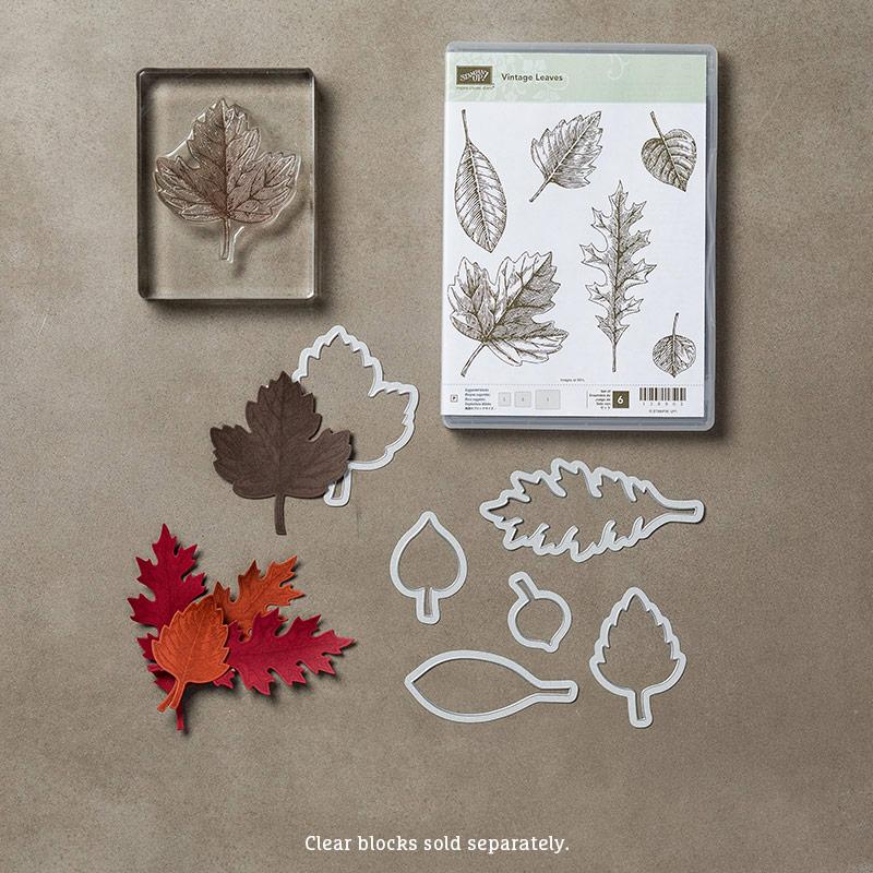 Vintage leaves bundle