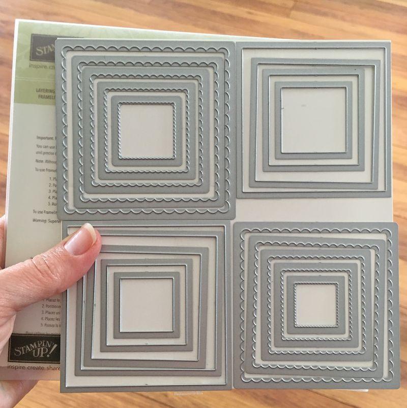 Layering squares framelits