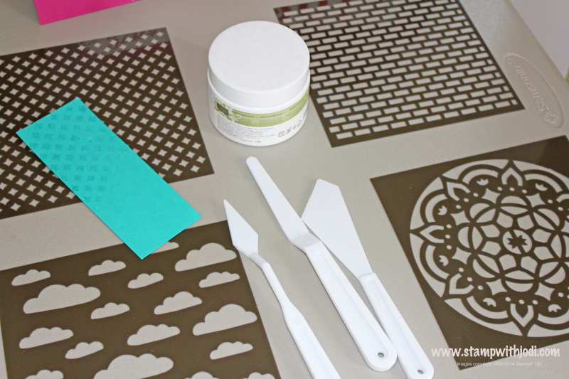 Emboss paste and masks