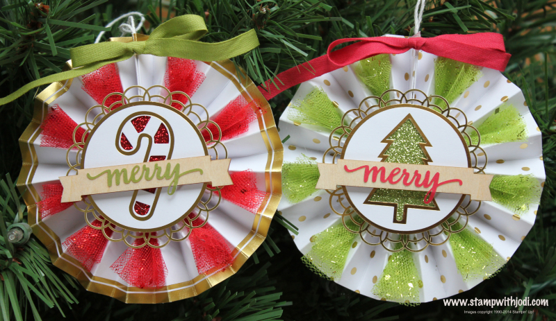 Be Merry ornaments