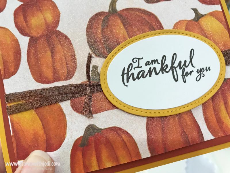 Thankful Pumpkin shimmer close