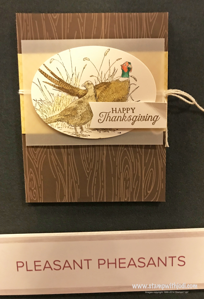Pleasant Pheasants